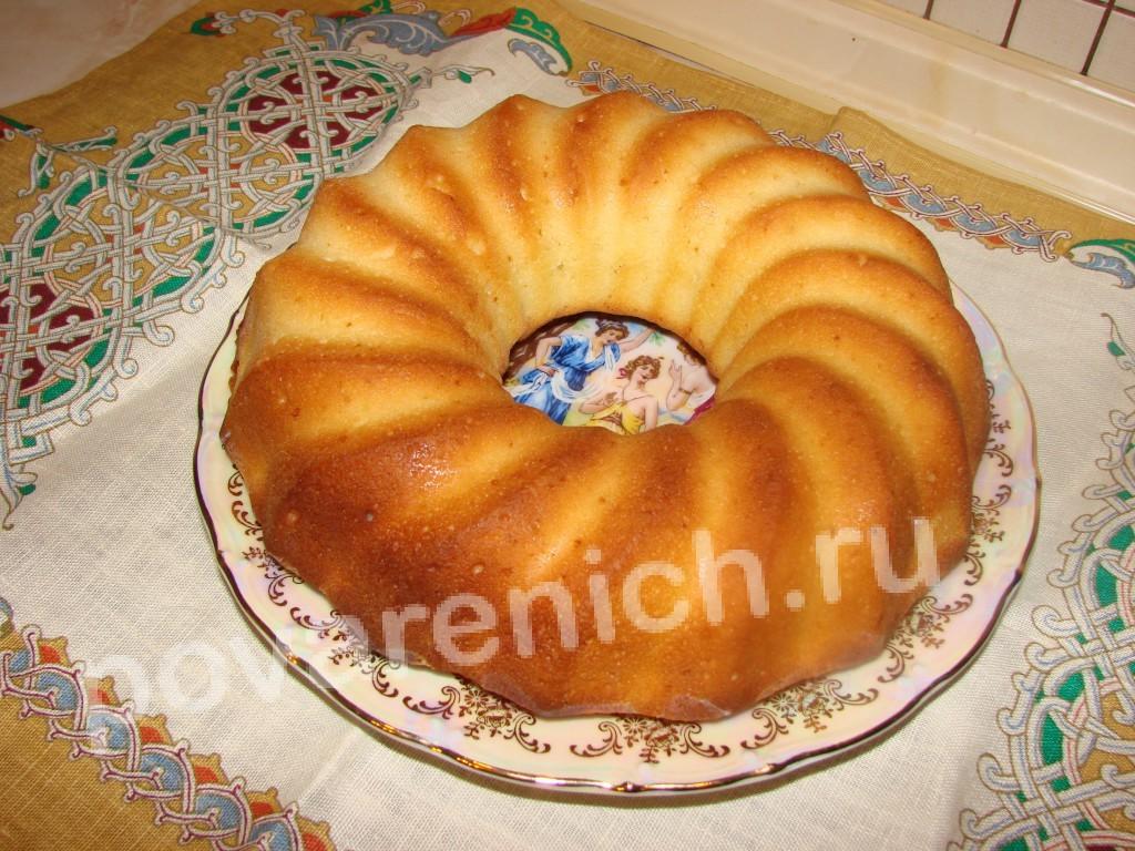 бисквит на ряженке рецепт с фото
